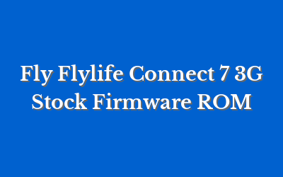Fly Flylife Connect 7 3G